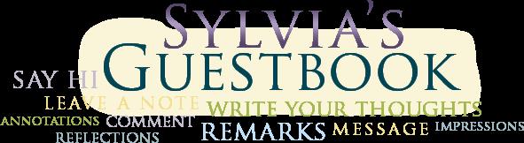 Sign Sylvia's Guestbook