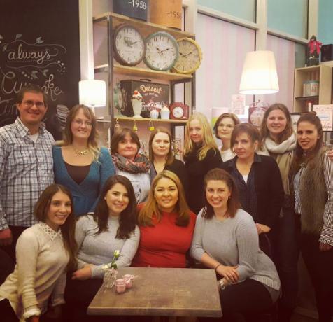Sylvia and readers at a fan meet & greet in Hamburg, Germany - November 2016.